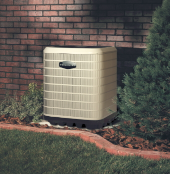 Brand new Frigidaire air conditioning unit replaced by Warnky Heating & Cooling